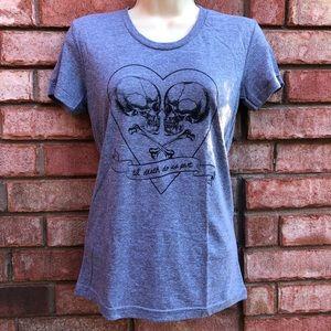 Til' death do us part t-shirt sz Small. New!